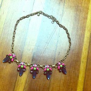 loft large multi colored necklace
